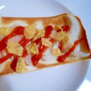 玉葱&ケチャ&ドリトスでトースト♪