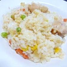 鶏とミックスベジタブルの洋風混ぜご飯
