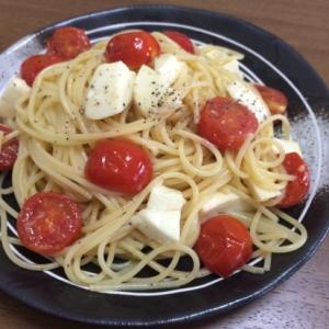 簡単!トマトとモッツァレラの冷製パスタ