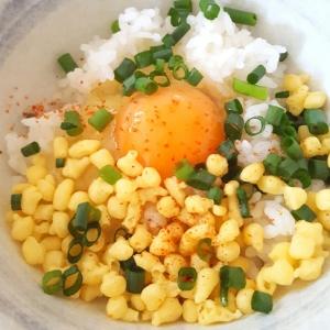 ★大好き♡たぬき卵かけご飯★