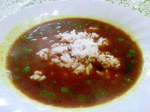 捨てないで☆鯵の粗と春菊の茎で作る♪カレースープ