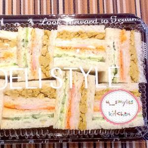 ホームパーティーに最適‼︎カラフル3色サンドイッチ