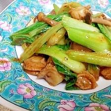 ベビーホタテとチンゲン菜のXOジャン炒め