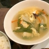 ニラの中華風玉子スープ
