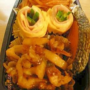 レンコンと豚肉炒め(弁当用)