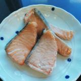 生のサーモンから手作り塩鮭