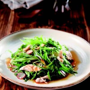 楽天マート☆ささみと水菜のサラダ