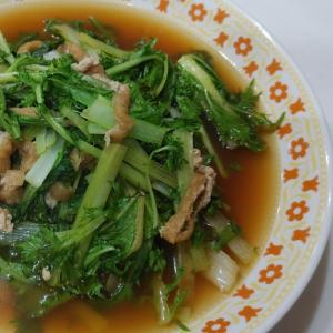 京菜と油揚げ煮