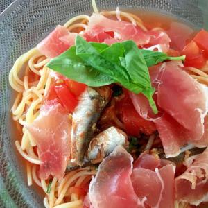 イタリアン風☆冷製スープパスタ☆冷たいスパゲティ