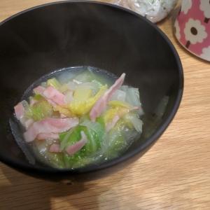 5分で!朝ごはんに白菜ベーコンスープ