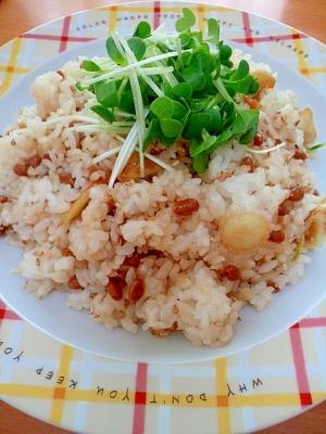 納豆とにんにくのチャーハン