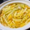 キムチ味で食欲そそる!豚バラと白菜のミルフィーユ鍋