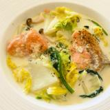 バターなし!簡単★鮭と白菜のクリーム煮
