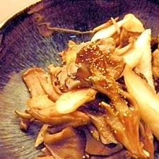 舞茸と笹かまのめんつゆ炒め