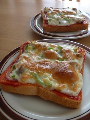 朝の定番☆ピザトースト