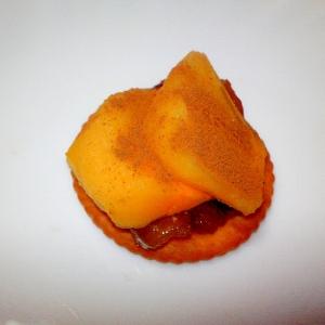 柿と無花果煮のリッツ
