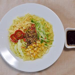 牛挽肉と椎茸のそぼろde冷し中華