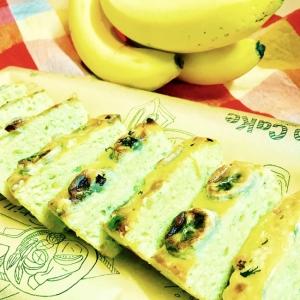 トースターで簡単おやつ☆豆腐とバナナのケーキ
