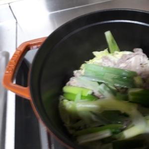 STAUBですき焼き風♪蒸し鍋