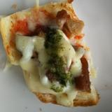 唐揚げ&こんにゃくのピザトースト