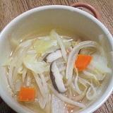 野菜たっぷり♪しいたけの中華スープ