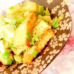 ❤馬鈴薯と厚揚げ&葱の味噌マヨ生姜炒め❤