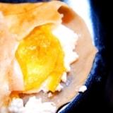 蕎麦粉のガレット、フロマージュ・オランジェ