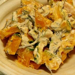 南瓜とひじきの味噌マヨサラダ