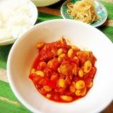 大豆とチキンのトマト煮込み