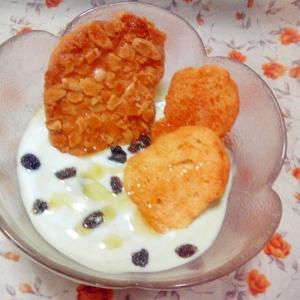 アーモンドとバターのWラスクヨーグルト
