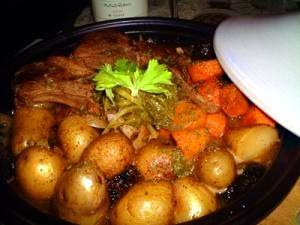野菜タップリ♪ラム&プルーンのタジン