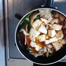 1品で満足☆純豆腐(スンドゥブ)風きしめんチゲ