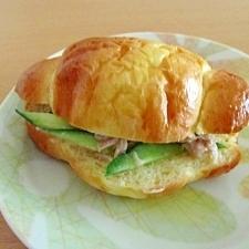 きゅうりとシーチキンのサンドイッチ♡