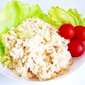 レタスと豆腐のチャーハン
