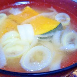 かぼちゃネギ味噌汁