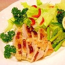 減塩☆軟らか鶏胸肉のカレー焼き