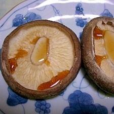椎茸のトースター焼きポン酢がけ