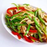 鶏肉でチンジャオロース 青椒肉絲
