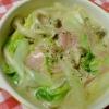 白菜とハムの中華風クリーム煮