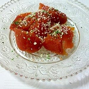 トマト缶で不思議なゼリー。トマトのイタリアン風前菜