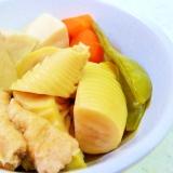 おいしい煮汁を使い切る たけのこと凍豆腐の煮物