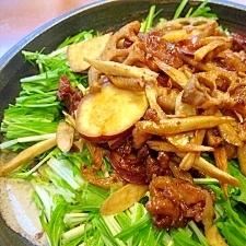 豚肉と根菜の揚げサラダ
