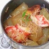 カニかま とちくわで冬瓜の煮物