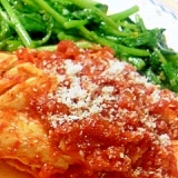 鶏ササミのトマト煮