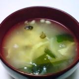 えのきときゅうりのキューちゃんのたまごスープ