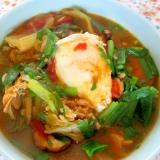 タラとトマトのチゲ風スープ