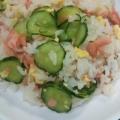 色鮮やか!きゅうりと鮭とくるみのちらし寿司