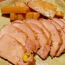圧力鍋で☆煮豚とメンマ風筍
