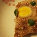 マッシュルームとうずら卵のミートローフ風