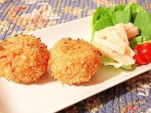 ライスコロッケ&長芋のタラモサラダ